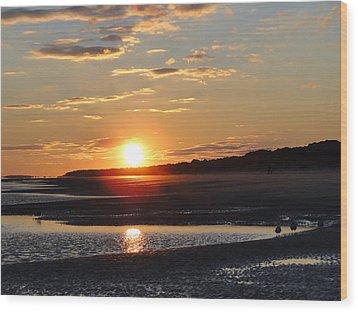Hilton Head Sunset Wood Print by Cindy Croal