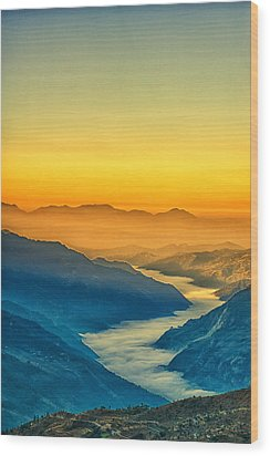Himalaya In The Morning Light Wood Print by Ulrich Schade