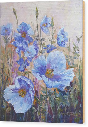 Himalayan Blue Poppies Wood Print