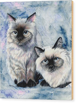 Himalayan Duo Wood Print by Sherry Shipley