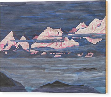 Wood Print featuring the painting Himalayas Of India by Vikram Singh