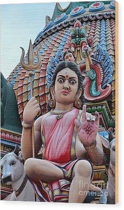 Hindu Goddess At Colorful Temple Wood Print by Imran Ahmed