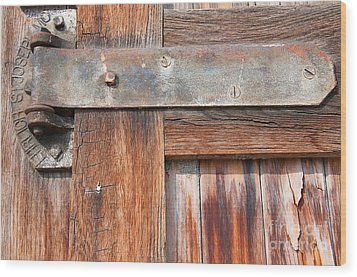 Hinge Door  Wood Print