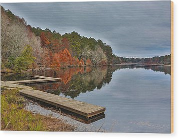 Hinson Lake Wood Print