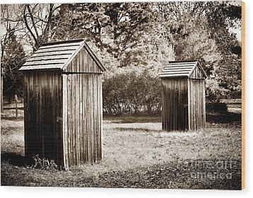His And Hers Wood Print by John Rizzuto