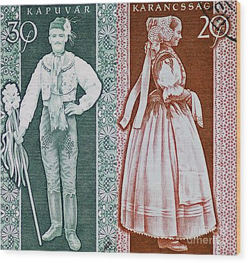 His And Hers Traditional Costumes Wood Print by Andy Prendy