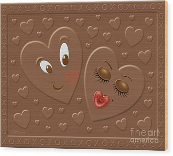His And Hersheys Wood Print by Cristophers Dream Artistry