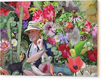 His Garden Wood Print by Erica Hanel