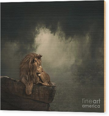 His Kingdom Wood Print by Lynn Jackson