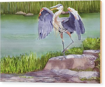 His Majesty Wood Print by Joan A Hamilton