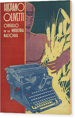 Hispano Olivetti 1936 1930s Spain Cc Wood Print by The Advertising Archives