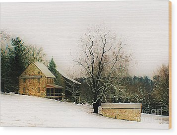 Wood Print featuring the photograph Historic 1700's Farmhouse by Polly Peacock