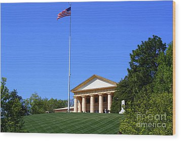 Historic Arlington House Wood Print by Patti Whitten