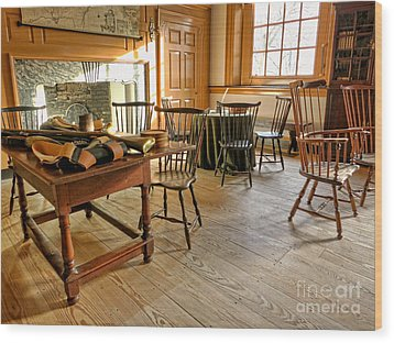 Historic Assembly Chamber Wood Print by Olivier Le Queinec