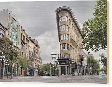 Historic Buildings In Gastown Vancouver Bc Wood Print by David Gn