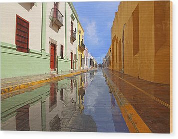 Wood Print featuring the photograph Historic Campeche Mexico  by Susan Rovira