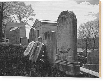 Historic Cemetery Wood Print by Jennifer Ancker