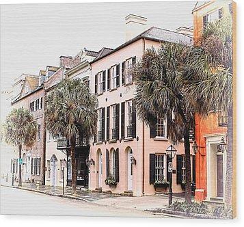 Historic Charleston Wood Print
