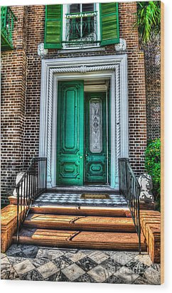 Historic Charleston Sc Door Wood Print