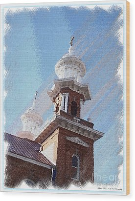 Historic Church Steeples Wood Print