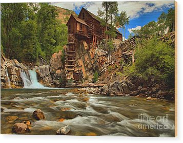 Historic Colorado Landscape Wood Print by Adam Jewell