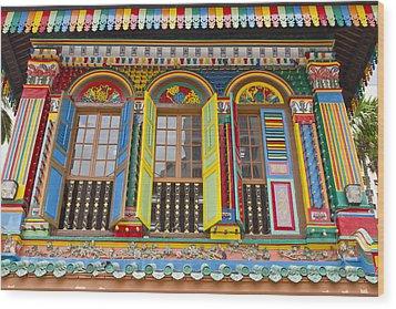 Historic Colorful Peranakan House Wood Print by David Gn