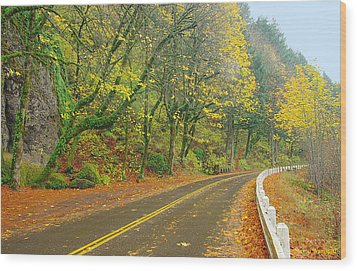 Historic Columbia Gorge Highway Wood Print