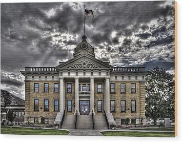 Historic Courthouse Wood Print by Jim Speth