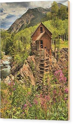 Historic Crystal Colorado Wood Print by Adam Jewell