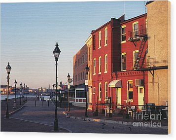 Historic Fells Point Wood Print by Thomas R Fletcher
