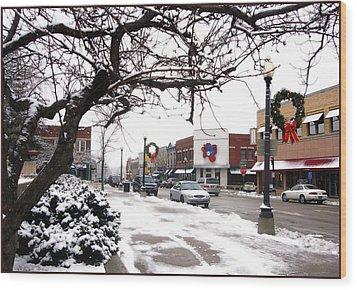 Historic Independence Main Street Wood Print
