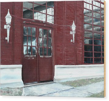 Historic Mcneill Street Pumping Station Shreveport Louisiana Wood Print by Lenora  De Lude