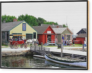 Historic Mystic Seaport Wood Print by Dora Sofia Caputo Photographic Art and Design