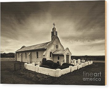 Historic Old Adobe Spanish Style Catholic Church San Ysidro New Mexico Wood Print