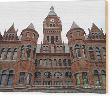 Wood Print featuring the photograph Historic Old Red Courthouse Dallas #1 by Robert ONeil