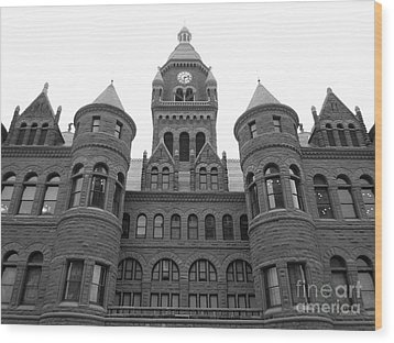 Wood Print featuring the photograph Historic Old Red Courthouse Dallas #2 by Robert ONeil