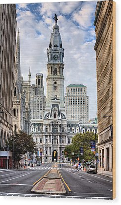 Historic Philly Wood Print by JC Findley