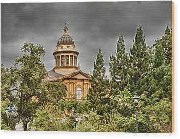 Wood Print featuring the photograph Historic Placer County Courthouse by Jim Thompson