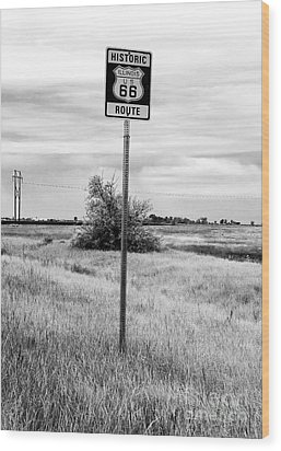 Historic Route 66 Wood Print by John Rizzuto
