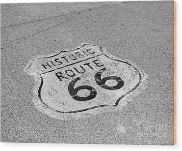 Historic Route 66 Wood Print by Kay Pickens