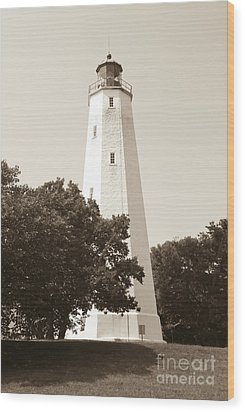 Historic Sandy Hook Lighthouse Wood Print by Anthony Sacco