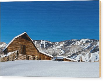 Historic Steamboat Spring Barn Wood Print by Teri Virbickis
