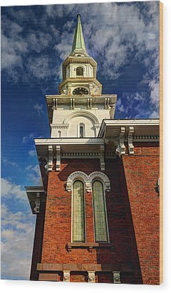 Historic Steeple Wood Print