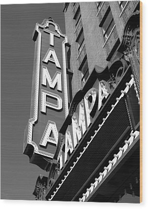 Historic Tampa Wood Print