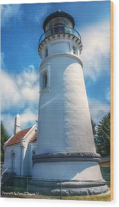 Wood Print featuring the photograph Historic Umpqua River Lighthouse by Tyra  OBryant