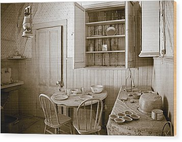 Historical American Home Wood Print