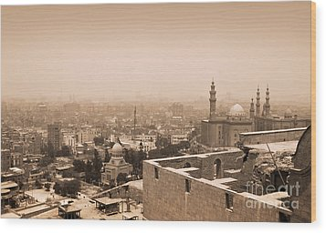 Wood Print featuring the photograph Historical Buildings Of Cairo by Mohamed Elkhamisy