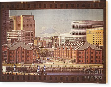 Historical Red Brick Warehouses Wood Print by Beverly Claire Kaiya