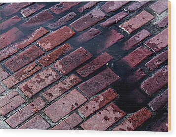 Hit The Bricks Wood Print by Andrew Pacheco