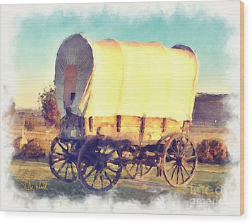 Hitch Your Wagon Wood Print